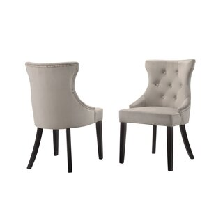 Haslett Upholstered Dining Chair (Set of 2) by Alcott Hill