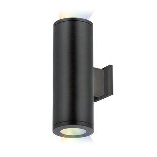 Orren Ellis Shakira 2-Light LED Outdoor Flush Mount