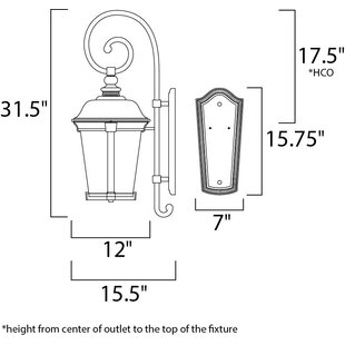 Darby Home Co Unger 1-Light Outdoor Wall Lantern