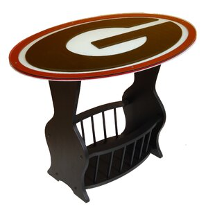 Fan Creations NCAA Glass End Table