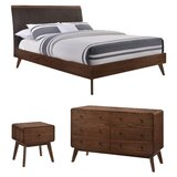 Tobias Upholstered Sleigh Configurable Bedroom Set by Foundstone