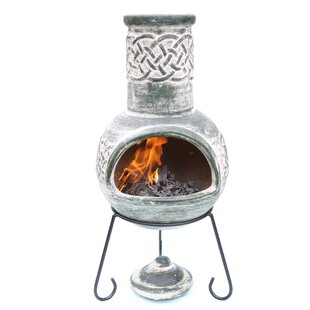 Edyth Clay Wood Burning Chiminea By Gardeco