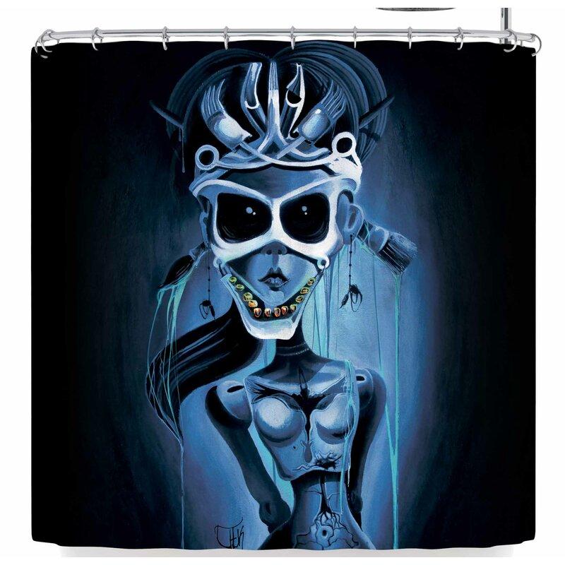 Ivan Joh Tattoo Girl Shower Curtain