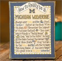 Michigan 'How To' Textual Art on Canvas ByGlory Haus