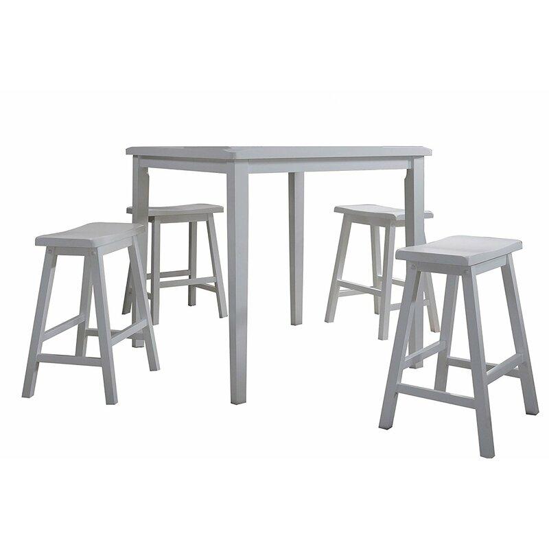 August Grove Easton 5 Piece Pub Table Set