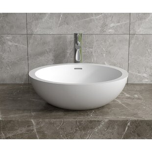 Searching for Stone Circular Vessel Bathroom Sink with Overflow By InFurniture