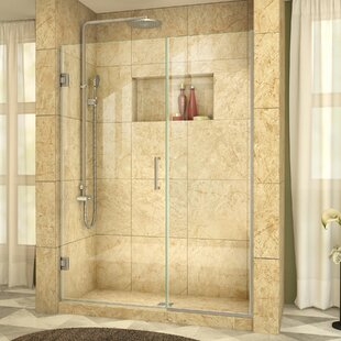 Read Reviews Unidoor Plus 58.5 x 72 Hinged Frameless Shower Door with Clearmax™ Technology ByDreamLine