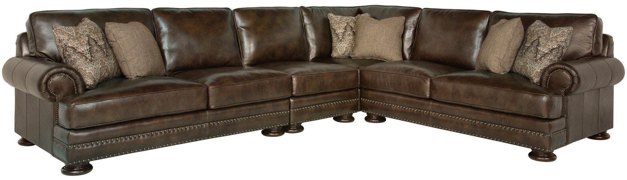 Superieur Bernhardt Foster Leather Modular Sectional | Wayfair