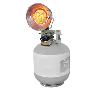 15,000 BTU Portable Propane Radiant Tank Top Heater With Tip-Over Safety Switch By Dyna-Glo