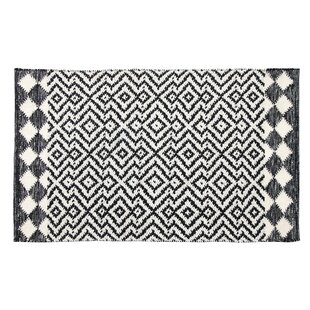 Look for Odeon Hand-Woven Black Indoor/Outdoor Area Rug By CompanyC