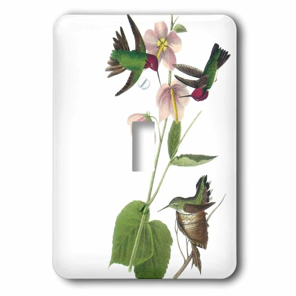 3drose Hummingbirds With Flowers 1 Gang Toggle Light Switch Wall Plate