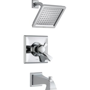 Dryden Diverter Tub And Shower Faucet With Lever Handle And Monitor