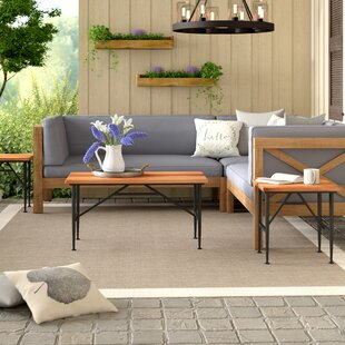 Cabarley Outdoor Wood 3 Piece Coffee Table Set