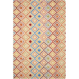 Vibrant Hand Tufted Wool Ivory Rug by Longweave