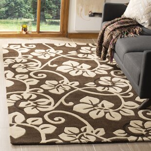 Find for Marcello Hand-Tufted Wool Brown/Ivory Area Rug By Alcott Hill