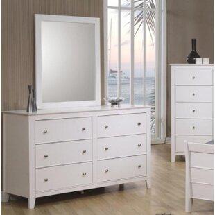 Carpendale 6 Drawer Double Dresser with Mirror ByHarriet Bee
