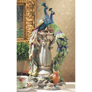 Peacocks In Paradise Statue Image