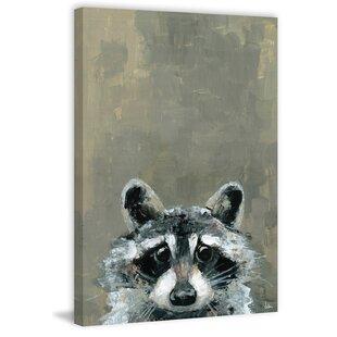 'Look Raccoon' Canvas Art