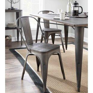 Claremont Metal Slat Back Side Chair (Set of 2)