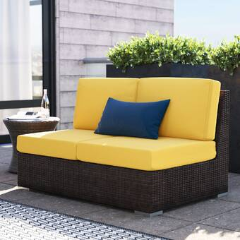 Vondom Ulm Loveseat With Cushions Wayfair