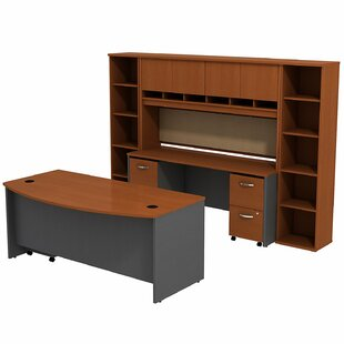 Series C Bow Front 6 Piece Desk Office Suite by Bush Business Furniture Amazing
