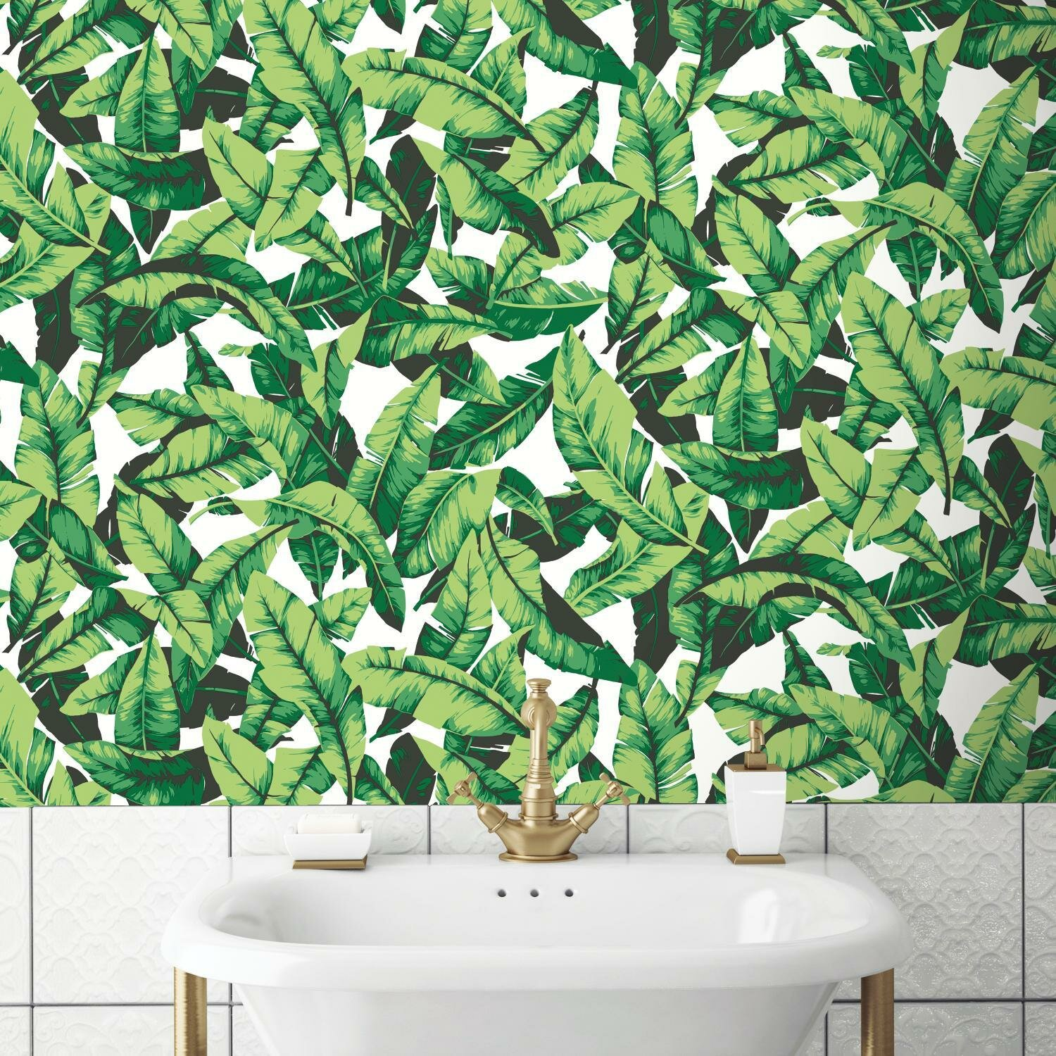 Oden Palm Leaf 16 5 L X 20 5 W Floral And Botanical Peel And