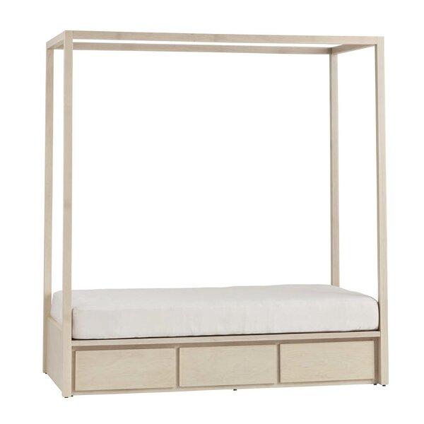 Orren Ellis Kadon Twin Storage Canopy Bed Without Headboard   Wayfair