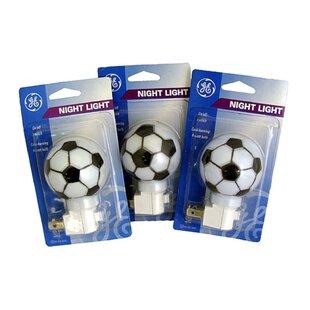 Northlight Seasonal Soccer Ball Sports Decorative Night Light (Set of 3)
