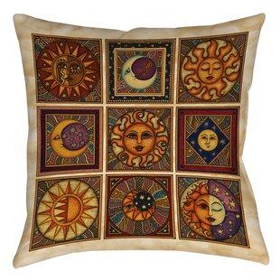 Celestial Squares Printed Throw Pillow