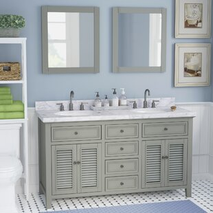 Order Braselton Solid Wood 61 Double Bathroom Vanity Set with Mirror By Laurel Foundry Modern Farmhouse