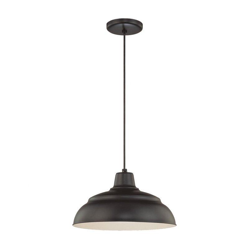 Barn Style Farmhouse Pendant Light! Stetson 1-Light Pendant