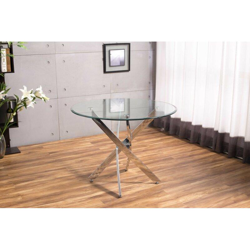 Orren Ellis Raquel Glass Dining Table Reviews Wayfaircouk