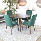 Hershel 5 - Piece Solid Wood Dining Set