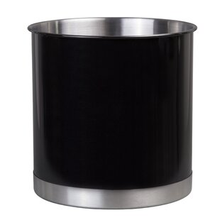 Ceramic Utensil Container Kitchen Cooking Utensil Holders Fine Embossed Cement Utensils Crock Square Pattern