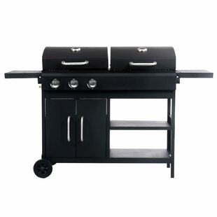159cm Theroux 3-Burner Liquid Propane Barbecue Grill By Symple Stuff