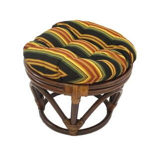 Tontouta Papasan Indoor/Outdoor Tufted Standard Ottoman