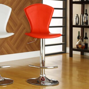 Agrippa Modern Adjustable Height Swivel Bar Stool (Set of 2) Orren Ellis