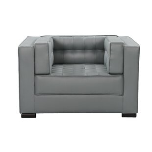 Unknow Leather Club Chair by Orren Ellis