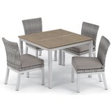 Saleem 5 Piece Dining Set with Cushions