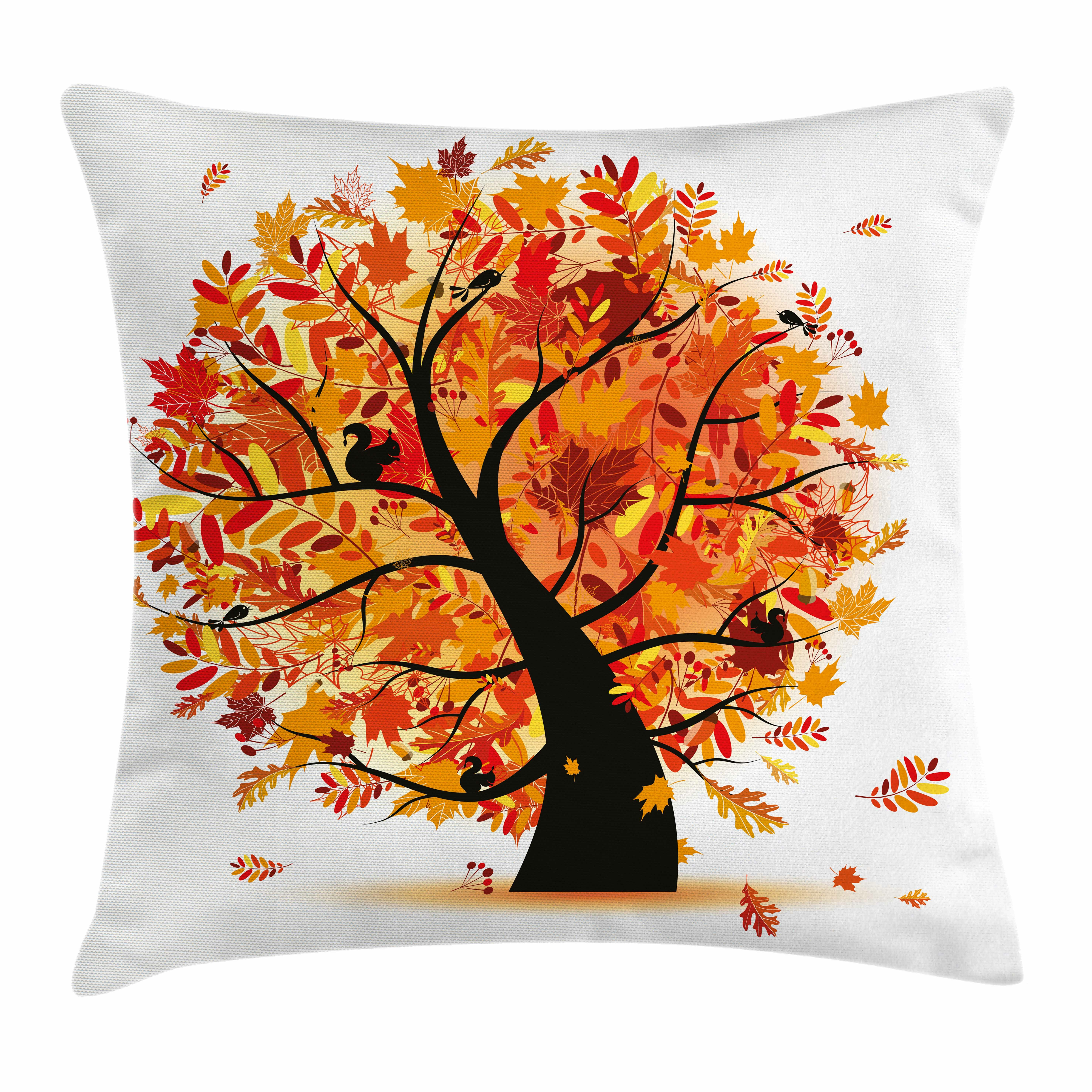 The Holiday Aisle Fall Decor Cartoon Tree Artful Square Pillow Cover Are you searching for cartoon tree png images or vector? wayfair
