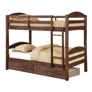 Bargain Ralph Twin over Twin Bunk Bed with Drawers ByViv + Rae