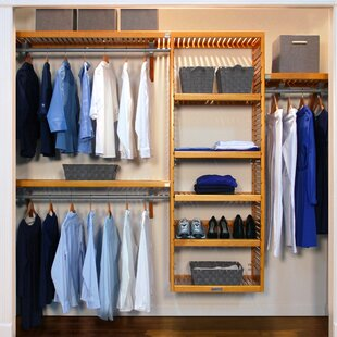 16 W Deep Solid Wood Deluxe Closet System