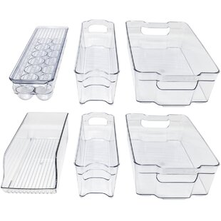 Benefield Refrigerator And Freezer Organizer Bins (Set Of 6) by Rebrilliant Today Only Sale