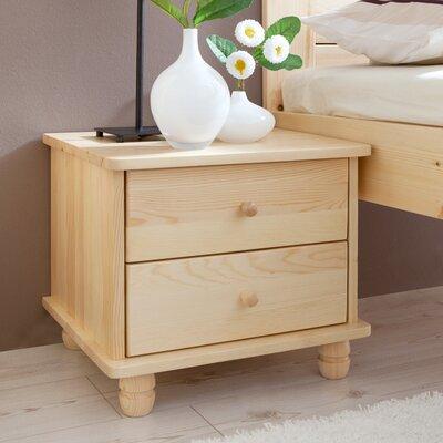 Nachttisch Penley mit 2 Schubladen | Schlafzimmer > Nachttische | Kiefernholz | 17 Stories