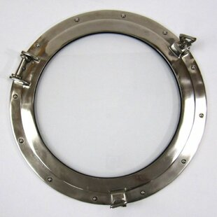 Deshong Porthole Window Nautical Accent Mirror