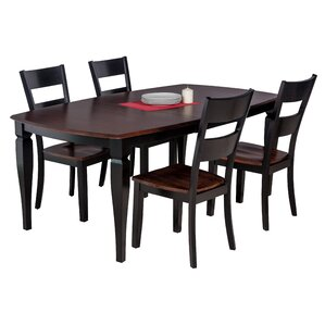 Besse 5 Piece Dining Set with Curved Back..