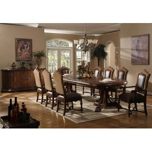 Burgundy Extendable Solid Wood Dining Table