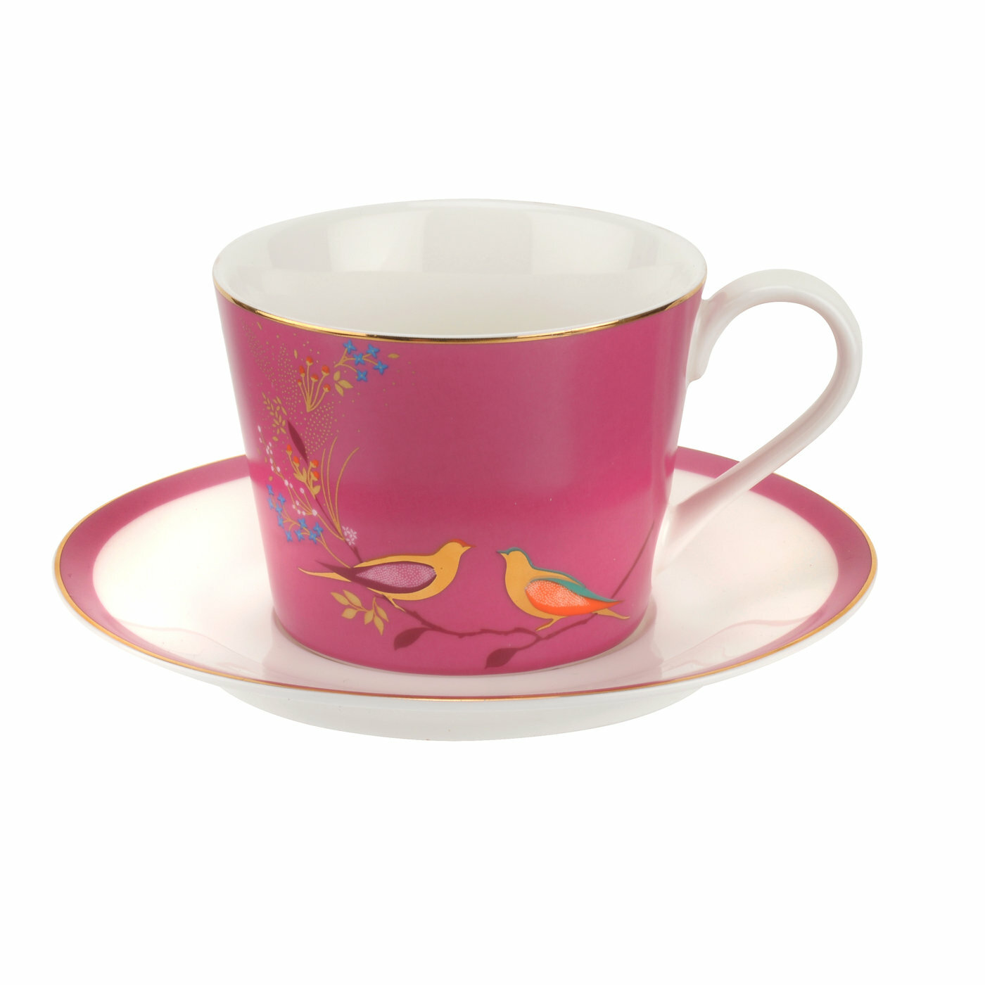 Multi-Colour, Sara Miller for Portmeirion Chelsea Tea Spoons Set of 4 Ceramic