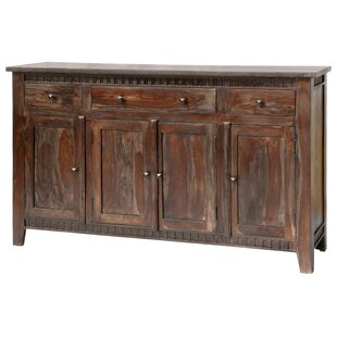 Mortenson 3 Drawer 4 Door Sideboard Loon Peak