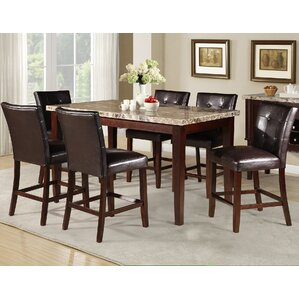 Castle Heights Marble Counter Height Dining Table
